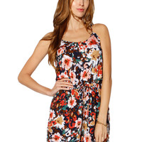 Papaya Clothing Online :: FRONT BOW FLORAL ROMPER