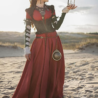 "Steampunk Dress, Corset and Chemise Costume ""The Alchemists daughter""; steampunk gown; steampunk clothing"