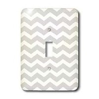 3dRose LLC lsp_56640_1 Grey and White Chevron Zig Zag Pattern Aka Trendy Gray Or Stylish Silver Single Toggle Switch