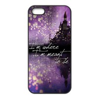 Mystic Zone Custom Princess Tangled Rapunzel Cover Case for iPhone 5/5S TPU Back Cover Fits Case WSQ1698