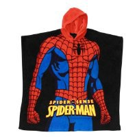 "Spider-Man ""Spider Sense"" Red 21"" x 24"" Wrappie Hooded Fleece Blanket Poncho"