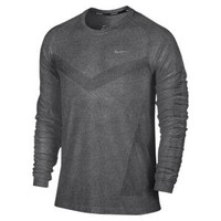 The Nike Dri-FIT Knit Long-Sleeve Men's Running Shirt.