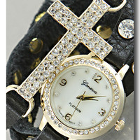 Time is a Blessing Watch in Black from P.S. I Love You More Boutique