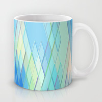 Re-Created Vertices No. 8 Mug by Robert S. Lee