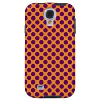 Orange Polka Dot Samsung Galaxy S4 Cover