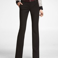 STUDIO STRETCH TAB WAIST SLIM FLARE COLUMNIST PANT