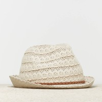 AEO CROCHETED FEDORA