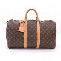 Louis Vuitton Keepall 45 Duffle Brown Monogram Canvas Travel Bag