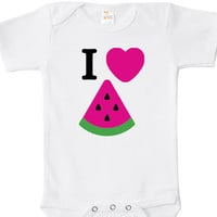 I Love Watermelon Baby Bodysuit, One Piece, Baby Clothes Apparel