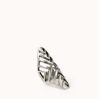 Cutout Chevron Knuckle Ring