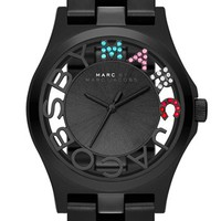 MARC BY MARC JACOBS 'Henry Skeleton Glitz' Bracelet Watch, 40mm