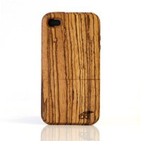 wood iPhone 4 Case - Zebra
