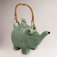 Novica Buddha and the Jade Elephant Ceramic Teapot - World Market
