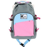 Couple Matching Contrast Color Large Size Travel Shoulder Bag Backpack