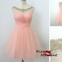 Cute Pink Short prom dresses, Discount Simple Short Sweetheart Pink bridesmaid dress, Pink Cocktail dress,Cheap New Homecoming dresses,9080