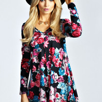 Jessika Dark Floral Swing Playsuit