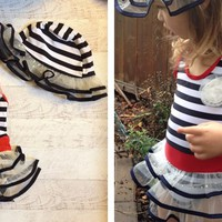 Sailor Stripe Swim Suit & Hat