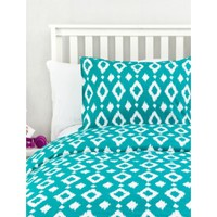 Teal Ikat Duvet Cover- Full/Queen