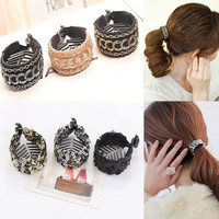 Fashion Jaw Claw Clips Ponytail Clip Holders with Sequins Hair Accessories
