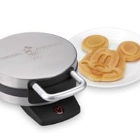 Disney DCM-1 Classic Mickey Waffle Maker, Brushed Stainless Steel Gift, Baby, NewBorn, Child