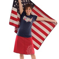 Large US American Flag Throw Blanket - Made in the USA