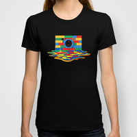 classic retro full color melting rubik cube rubik cube camera Tee T-shirt by Three Second
