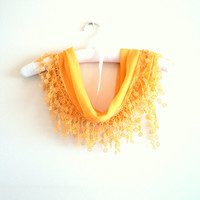 Yellow, Cotton,Scarf,Shawl,Bandana,headbands, shawl,Triangle scarf