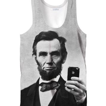 Abraham Lincoln Selfie Tank Top