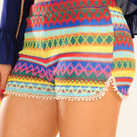 Sweet Georgia Sunset Shorts: Multi