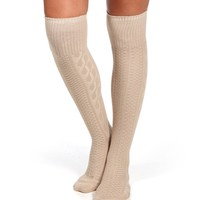 Beige Knee High Socks