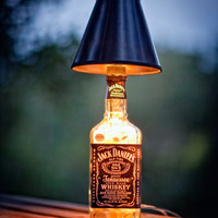Jack Daniels Lamp, Hand Made Jack Daniels lamp, Perfect for your home, dorm room, man cave, or bar/pub.