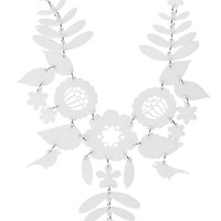 Mexican Embroidery Necklace - white