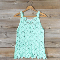 La Conner Lace Tank in Mint