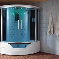 Eagle Bath WS-703 59 Inch Steam Shower w/ Whirlpool Bathtub Combo Unit