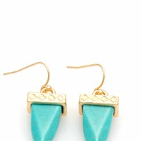 Tapered Faux Stone Earrings