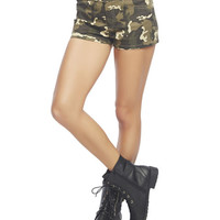 Camo Print Short | Wet Seal