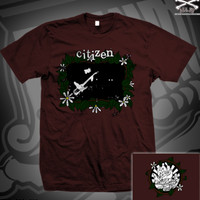 CIT FLOWER FRAME LIVE TEE ON MAROON