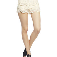 Tiered Crochet Short | Wet Seal