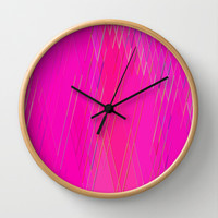 Re-Created Vertices No. 10 Wall Clock by Robert S. Lee