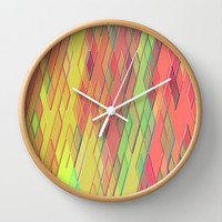 Re-Created Vertices No. 9 Wall Clock by Robert S. Lee