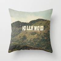 Hollywood (color) Throw Pillow by CMcDonald - Oscars, Movie Star, Celebrity