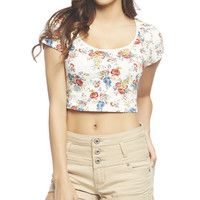 Floral Crop Tee | Wet Seal