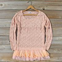 Timber Line Top in Pink