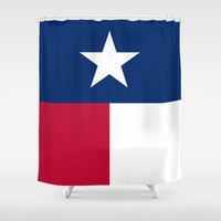 "The State flag of Texas - The ""Lone Star Flag"" of the ""Lone Star State"" Authentic Verticle Version Shower Curtain by LonestarDesigns2020 - Flags Designs +"