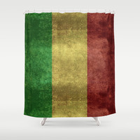 The National flag of the Republic of Mali Shower Curtain by LonestarDesigns2020 - Flags Designs +