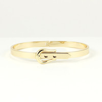 MINI GOLD BELT BUCKLE BANGLE BRACELET | PUBLIK | Women's Clothing & Accessories