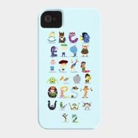 Animated Characters Alphabet Case For Iphone Or Galaxy