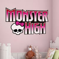 Monster High Logo Decal - Monster High Logo Wall Sticker Printed and Die-Cut Vinyl Apply in any Flat Surface- Monster High Logo Decor