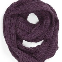Lulu Cable Knit Infinity Scarf (Juniors) (Online Only) | Nordstrom
