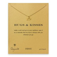 hugs & kisses XO necklace, gold dipped